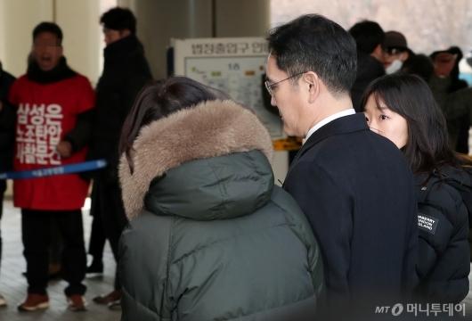 [사진]파기환송심 공판 출석하는 이재용 부회장