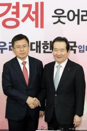[사진]정세균 총리, 황교안 대표 예방