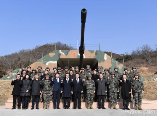 [사진]군부대 찾은 손학규 대표