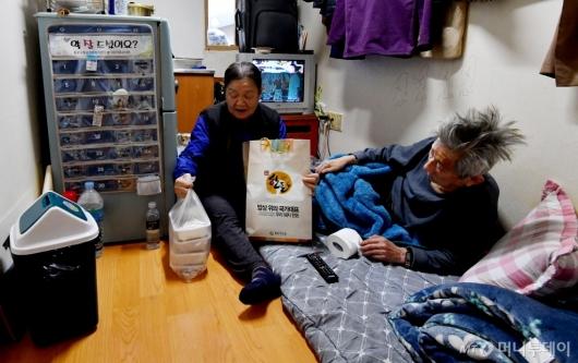 [사진]설 앞둔 취약계층 어른신들