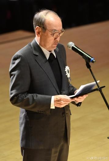 [사진]이홍구 전 총리, 故 신격호 명예회장 영결식 추도사