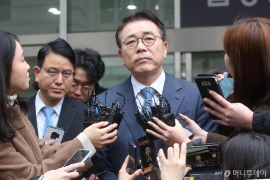 [사진]1심 유죄 선고 받은 조용병 신한금융지주 회장