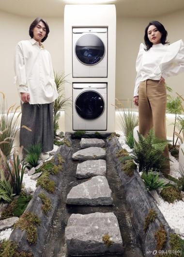 [사진]삼성전자 'AI 세탁기와 건조기로 편하게'