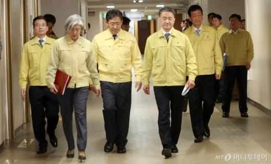 [사진]'신종 코로나바이러스' 관련 대책 관계장관 브리핑