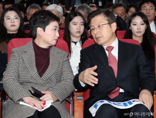 [사진]대화하는 황교안-이언주