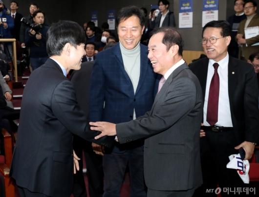 [사진]대화하는 하태경-김병준