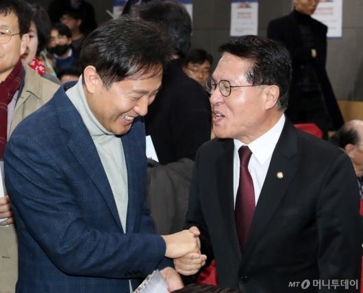 [사진]대화하는 정운천-오세훈