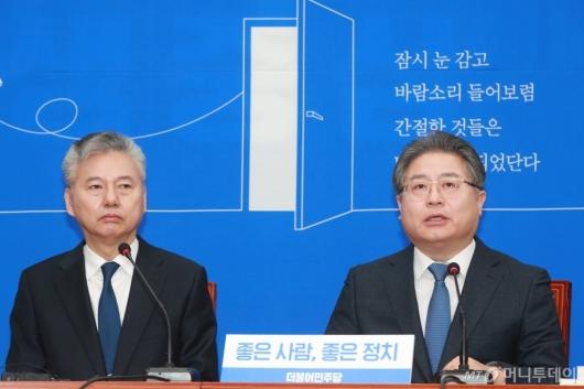 [사진]입당 소감 말하는 이재영 전 대외경제정책연구원장
