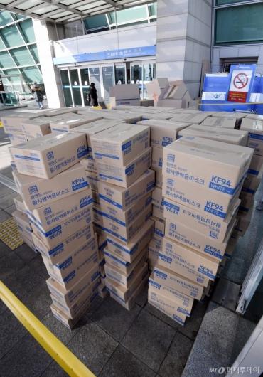 [사진]'박스갈이' 적발된 마스크 박스들