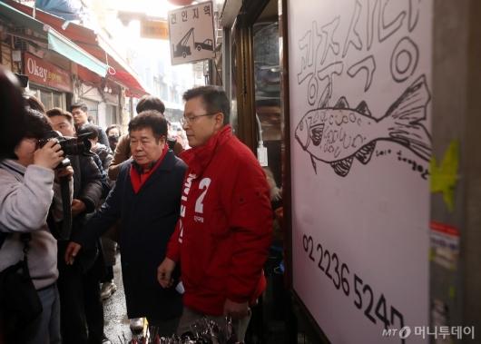 [사진]창신동 일대 시장 방문한 황교안 대표