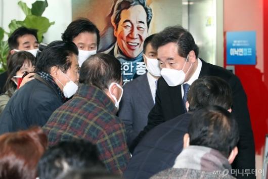 [사진]종로 주민들 만난 이낙연 전 총리