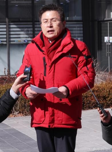[사진]황교안 대표, 교남동 방문해 총선 공약 발표