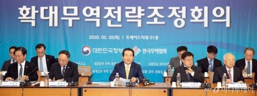 [사진]'확대무역전략조정회의' 모두발언 하는 정세균 총리