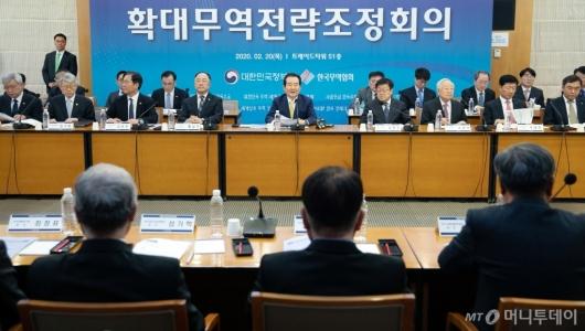 [사진]코로나19 대책 위한 '확대무역전략조정회의'
