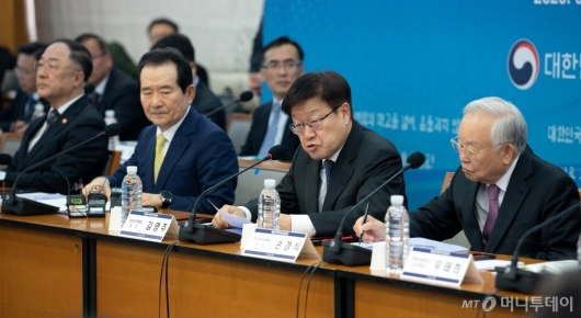 [사진]'확대무역전략조정회의' 발언하는 김영주 협회장