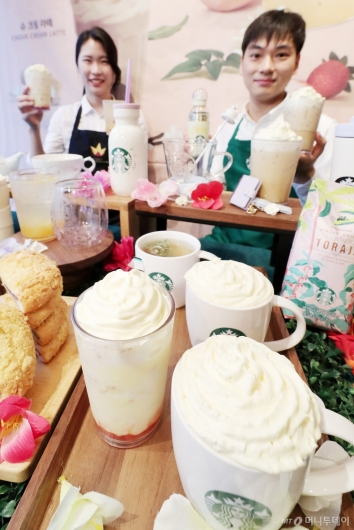 [사진]다시 찾아온 봄 음료 '슈크림 라떼'