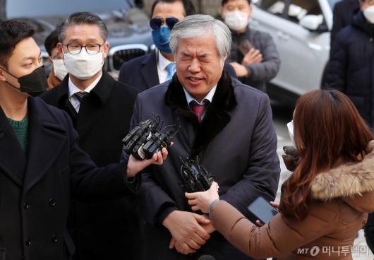 [사진]전광훈, 연이틀 '범투본' 광화문 집회 후 법원 출석