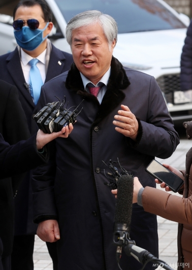 [사진]전광훈 목사, 영장실질심사 출석