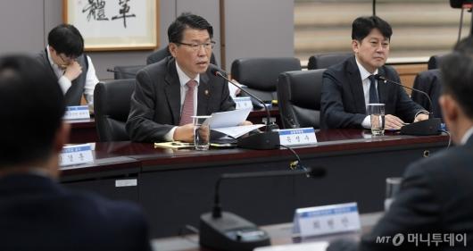 [사진]금융 CEO·전문가 간담회 주재하는 은성수 위원장