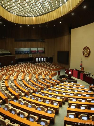[사진]코로나19로 텅 빈 국회 본회의장