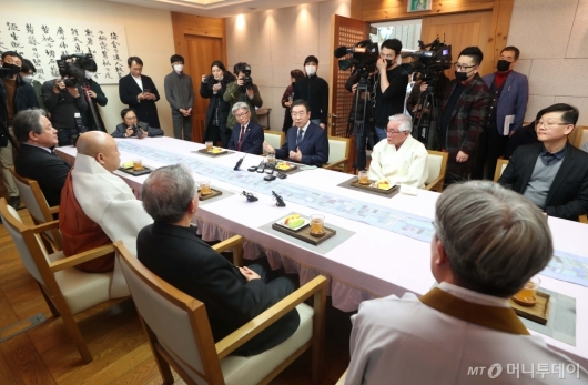 [사진]7대 종단 대표 만난 박원순 시장