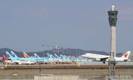 [사진]운항 취소된 항공기들