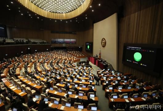 [사진]국회, 코로나 3법 모두 의결