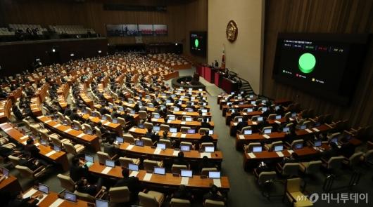 [사진]국회 '코로나 3법' 모두 의결