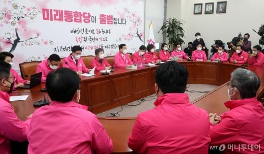 [사진]미래통합당 최고위원회의