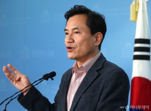 [사진]김진태, 선거구 확정 관련 기자회견