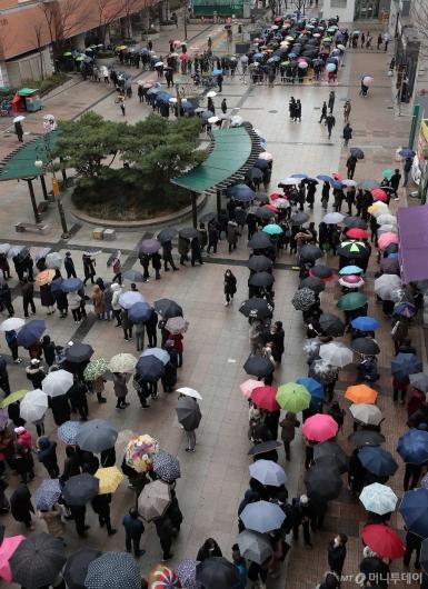 [사진]'비가 와도 마스크 구매 위해'