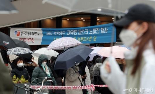 [사진]행복한백화점 '대국민 마스크 노마진 행사'