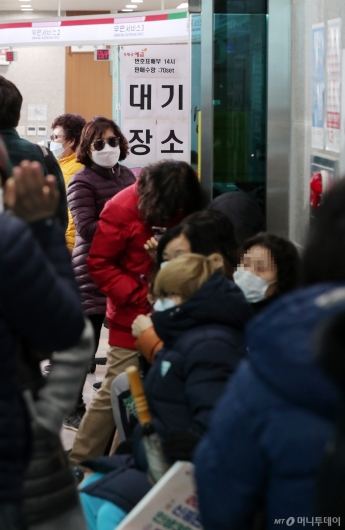 [사진]우체국서 마스크 기다리는 파주 시민들