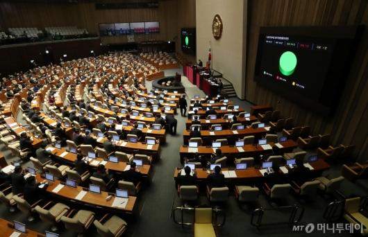 [사진]출입국관리법 개정안 국회 본회의 통과