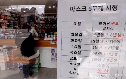 [사진]'일요일에 마스크 구매하는 시민'