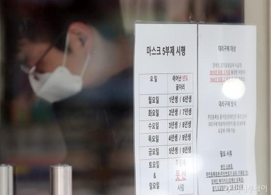 [사진]마스크 5부제 '주중 구매 못한 마스크 주말 구입 가능'