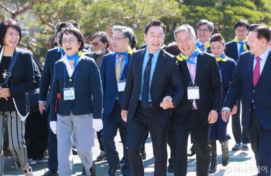 [사진]활짝 웃는 열린민주당