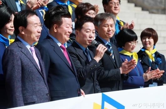 [사진]발언하는 정봉주 열린민주당 최고위원