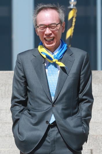 [사진]활짝 웃는 주진형 열린민주당 비례대표 후보