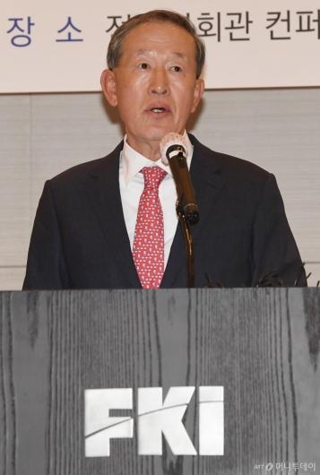 [사진]허창수 회장, 코로나19 극복 위한 경제계 긴급 제언