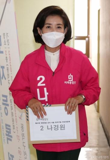 [사진]나경원, 21대 총선 후보 등록