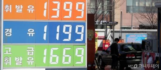 [사진]'9주째 하락한 휘발유 가격'