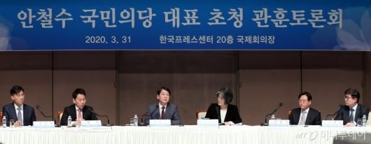 [사진]안철수 대표, 관훈토론회 참석