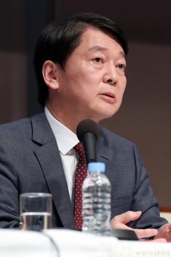 [사진]안철수, 관훈토론회 모두발언