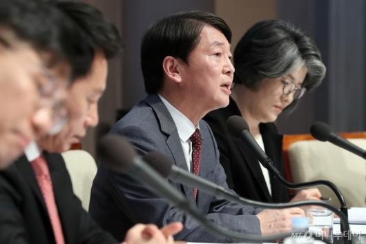 [사진]관훈토론회 발언하는 안철수 대표