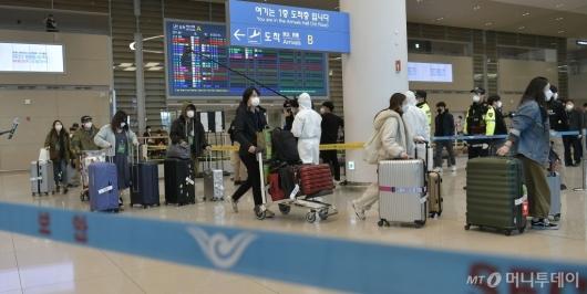 [사진]입국장 나서는 이탈리아 교민들