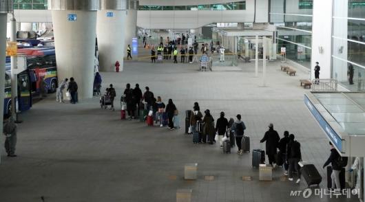 [사진]귀국한 이탈리아 교민들