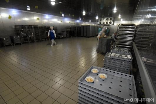[사진]한산한 기내식 센터