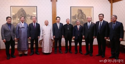 [사진]정세균 총리, 종교단체 간담회 참석