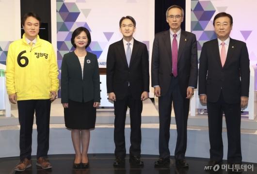 [사진]방송 토론회 참석한 비례대표 후보자들